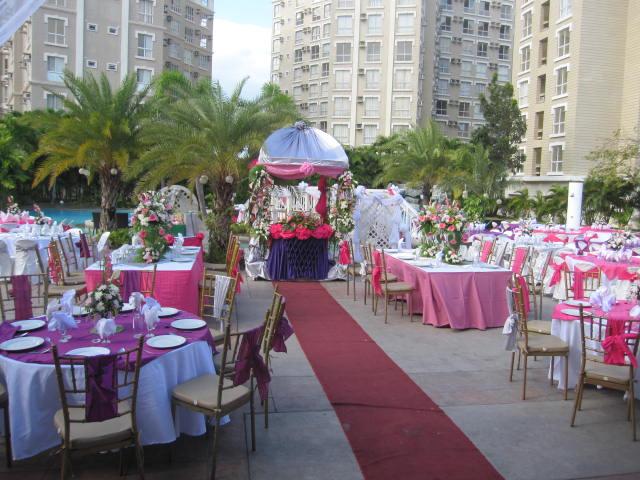 Backyard Wedding Reception Catering Tagaytay Weddings Caterer Tops In Caleruega Nasugbu